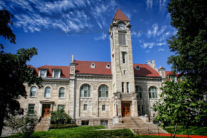 """""""The Student Building on the campus of Indiana University in Bloomington, Indiana."""""""